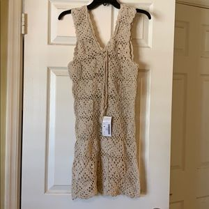 Crocheted cover up dress